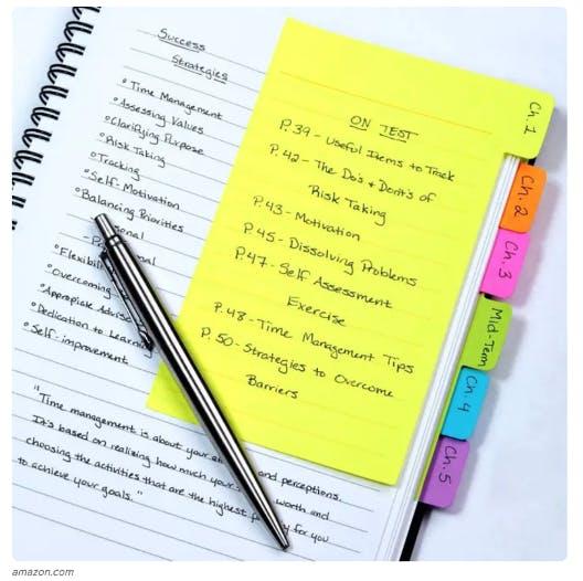 organised notebook
