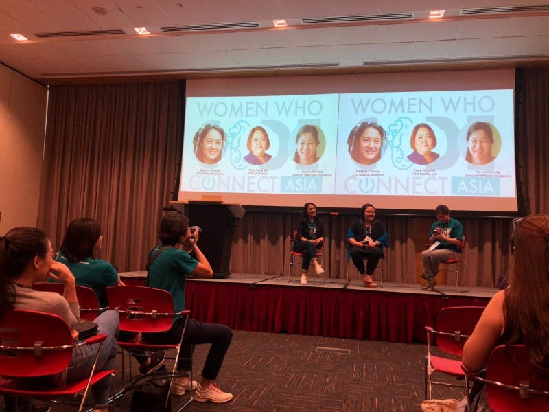 women who code, panel discussion, Daphne Choong, Choy Peng Wu, Yue Lin Choong