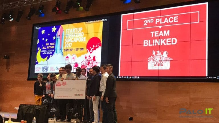 startup weekend singapore, second place