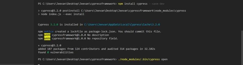 cypress code