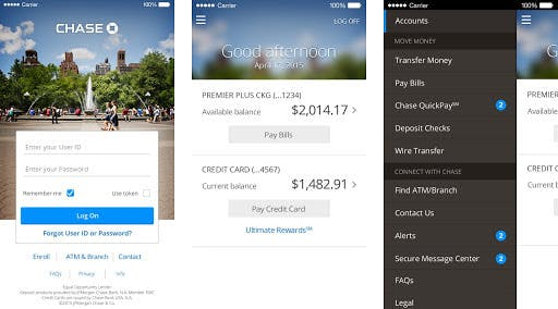 mobile banking example
