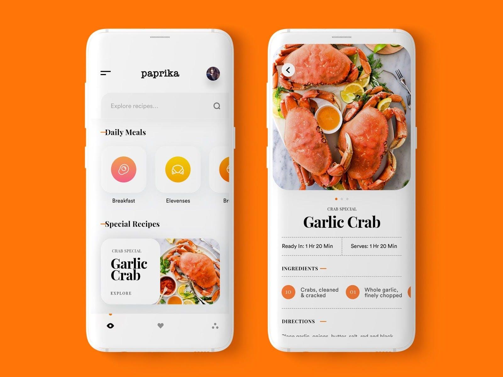 example of recipe app
