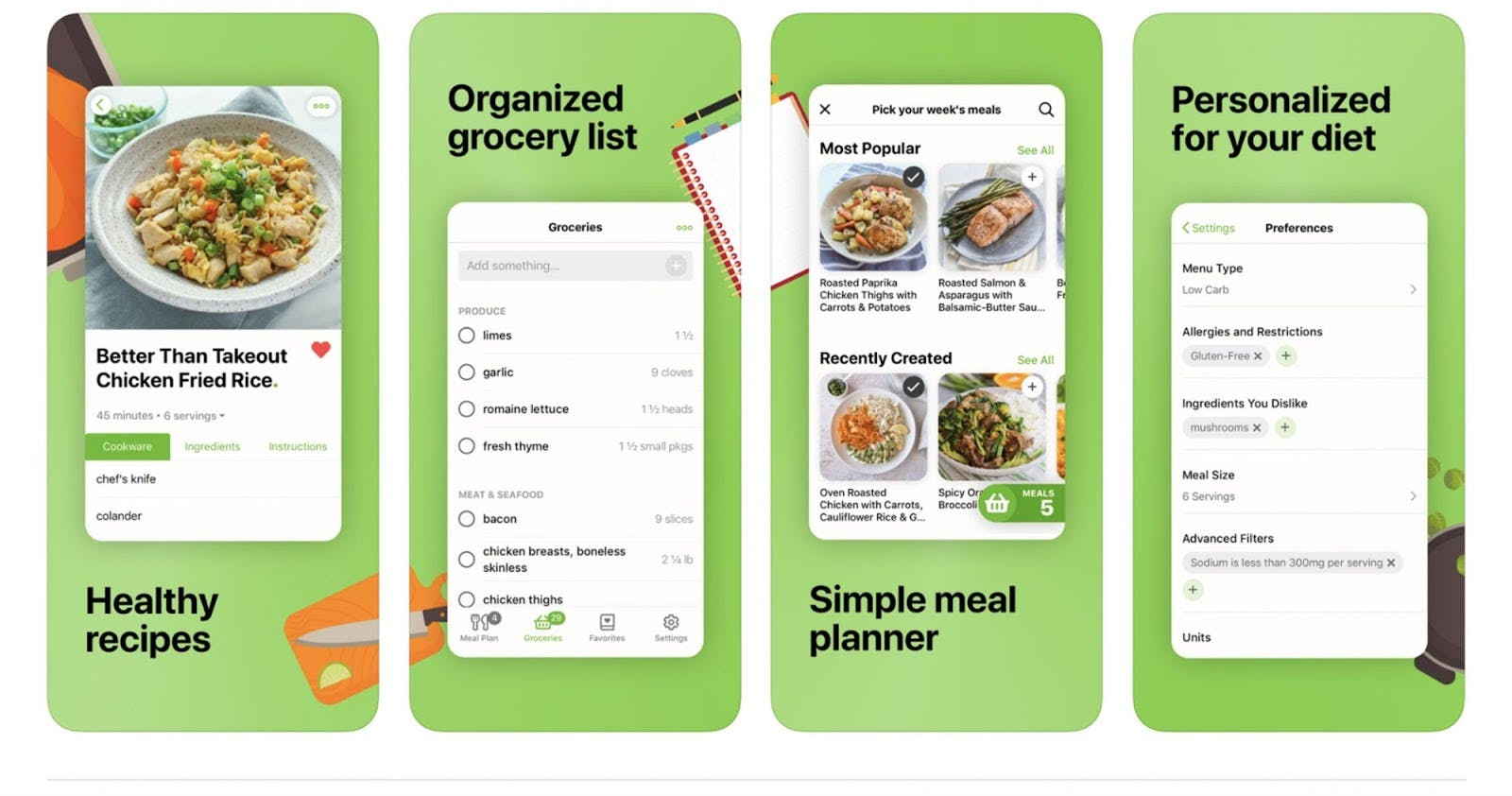 example of meal planner