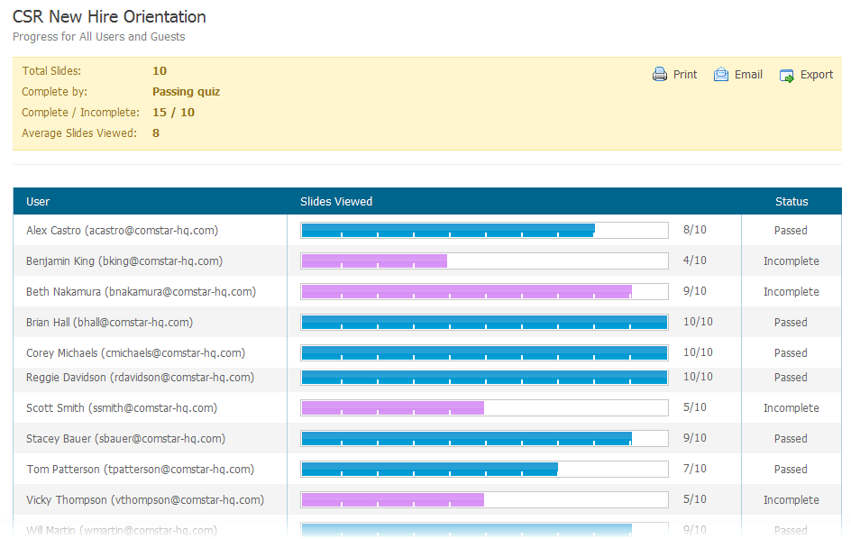 lms progress tracking
