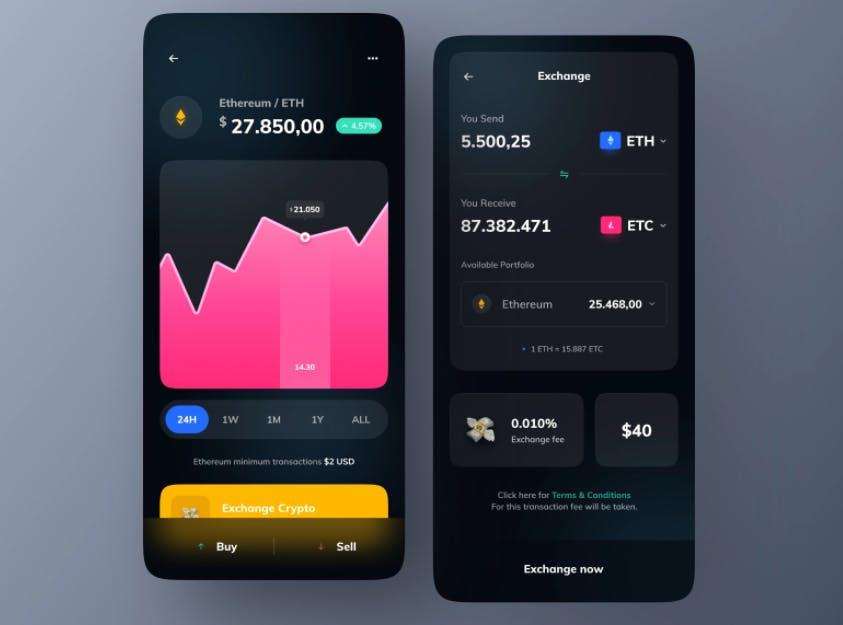 crypto exchange app development