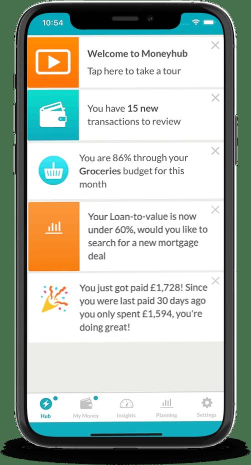 notifications in a fintech app