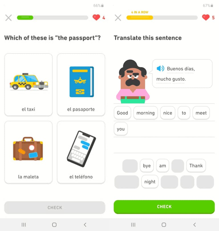 Example of gamification in LMS.