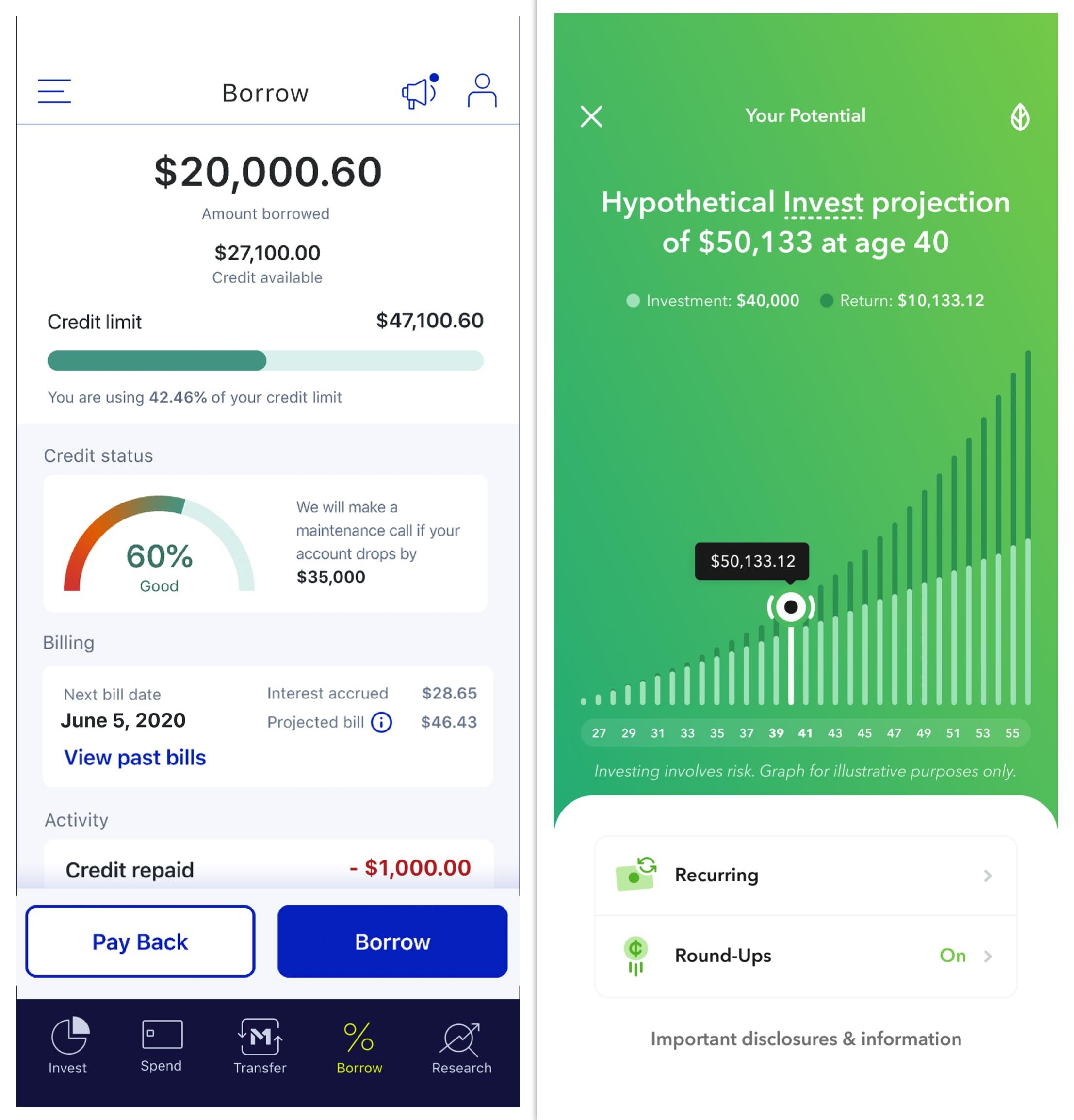 statistics in money apps
