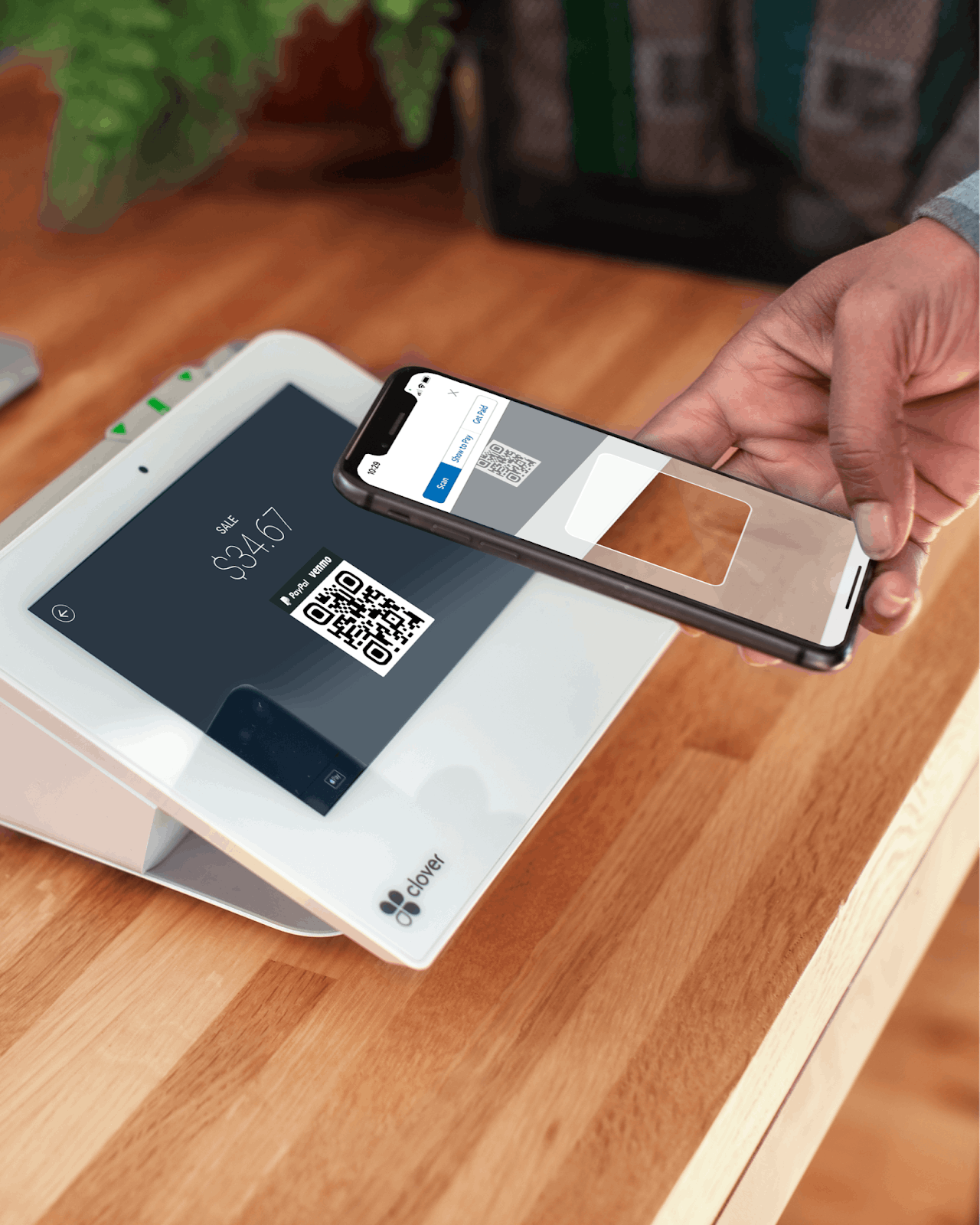 Touch-free in-store payment through a POS system and Venmo app