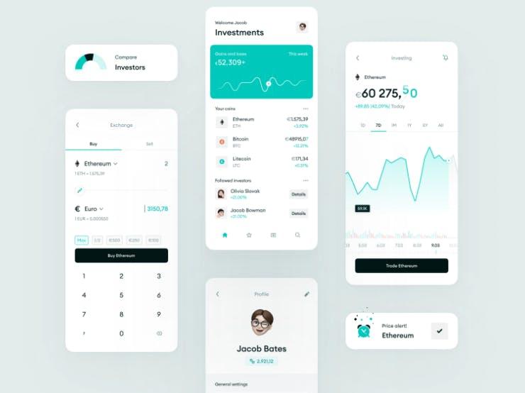 cryptoexchange user interface