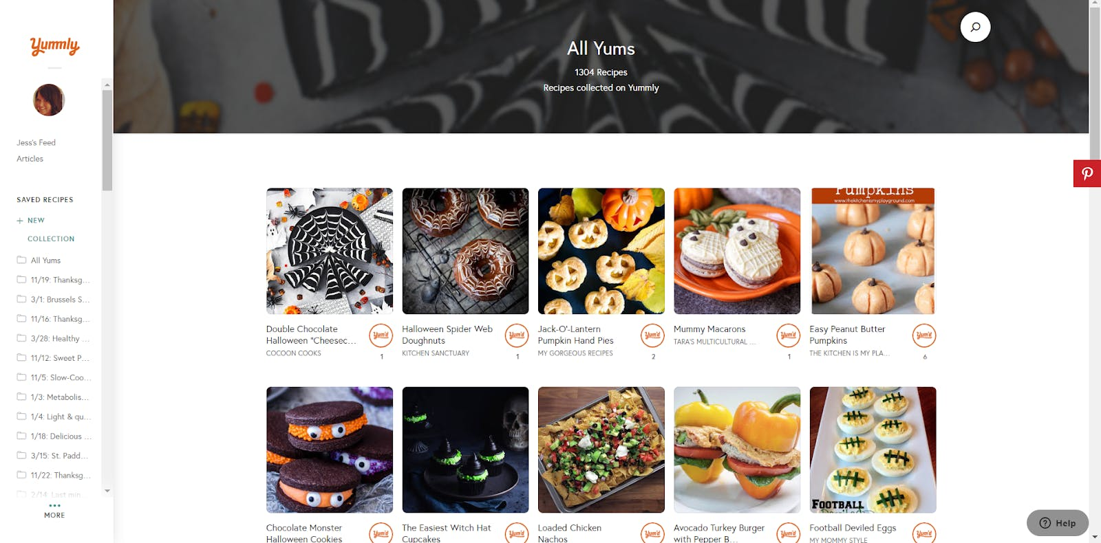 example of recipe collection app