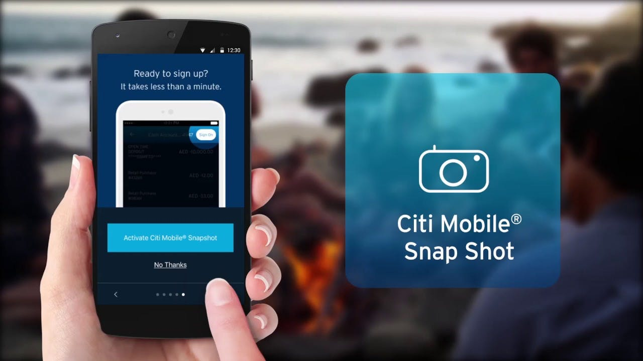The Citi Mobile Snapshot feature.