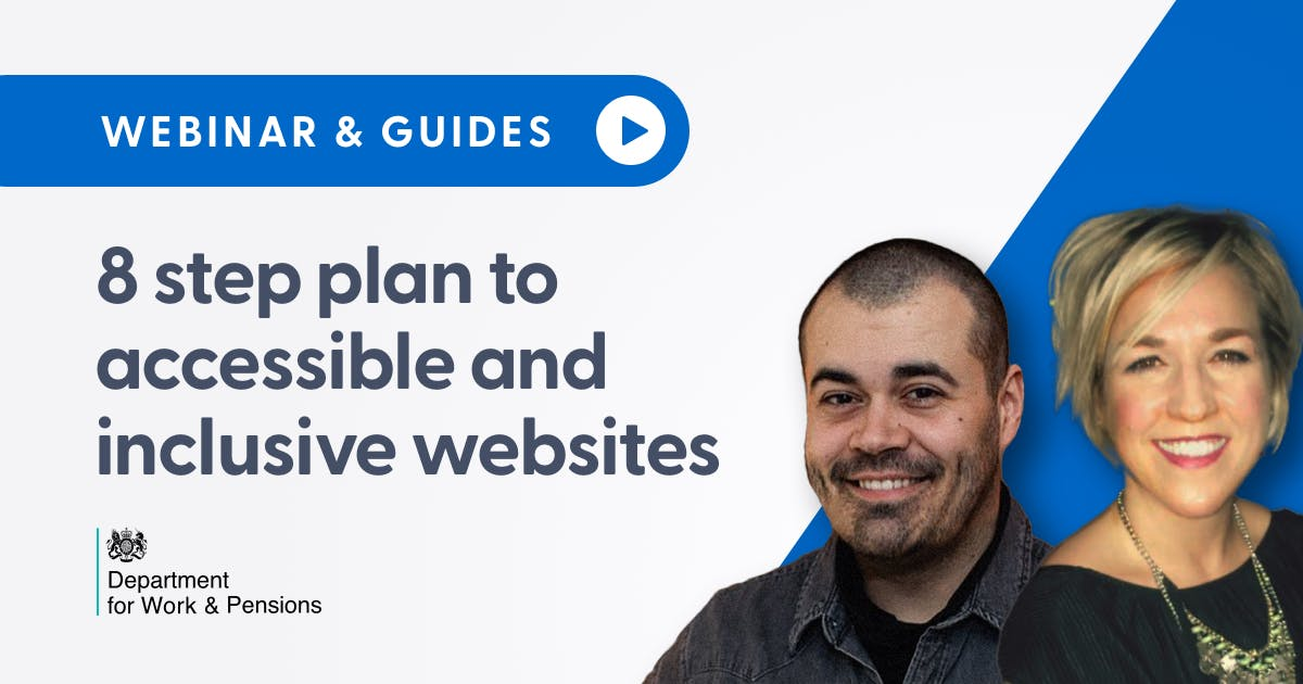 8 step plan to accessible and inclusive websites social card.