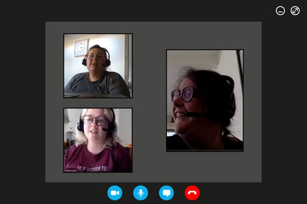 An image of our Mental Health First Aid Podcast Team on a virtual hangout together