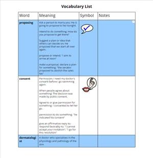 Read&Write Vocabulary List