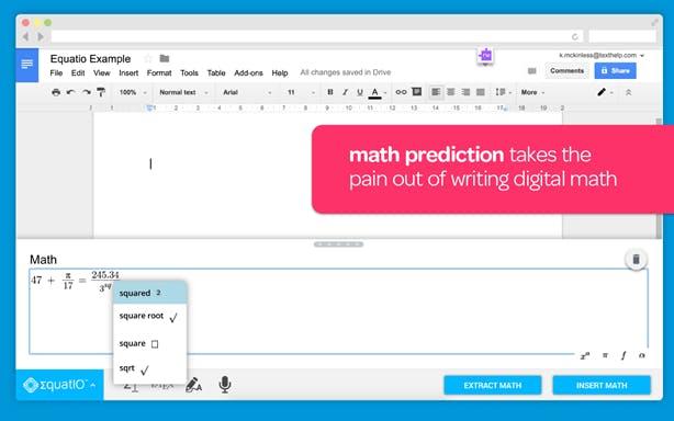 Math prediction takes the pain out writing digital math