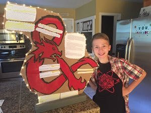 image of Tucker Bugaj with his Dungeons and Dragons project