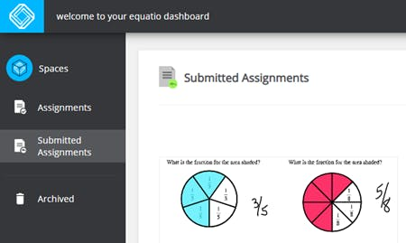 Image of EquatIO student dashboard