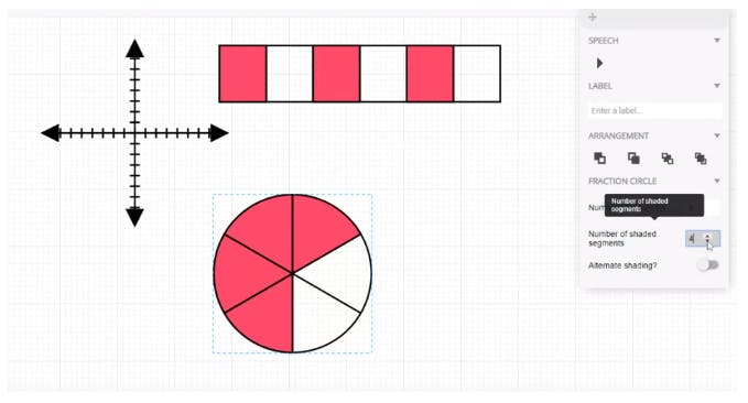 An EquatIO Mathspace activity - with a number of diagrams and expressions