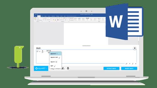 Using EquatIO in Microsoft Word