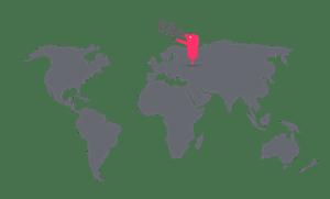 Texthelper on a world map