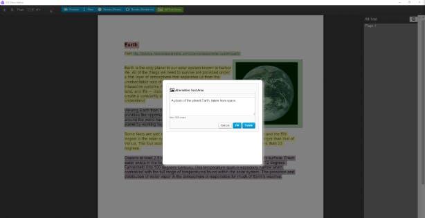 Add alt text with Flow Editor