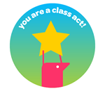 Class act sticker