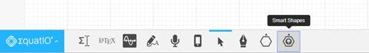 Screenshot of EquatIO mathspace toolbar