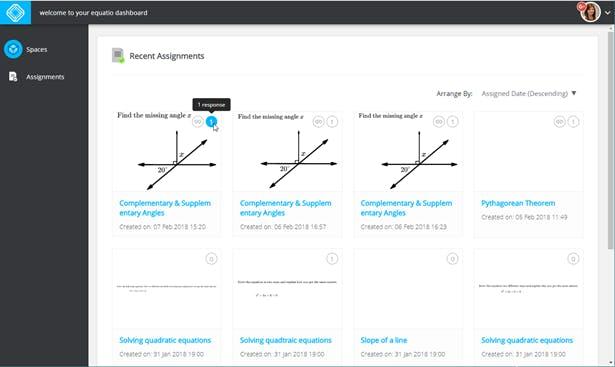 EquatIO Mathspace formative assessment tool