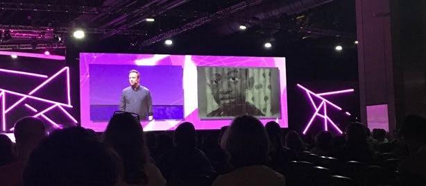 Phil Hansen on stage at ISTE 2019