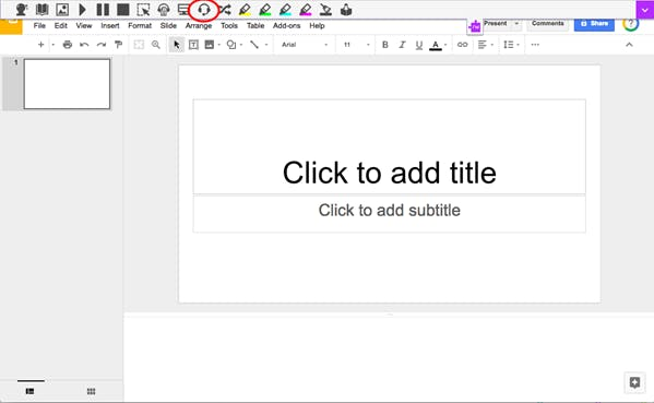 Talk&Type feature in Slides