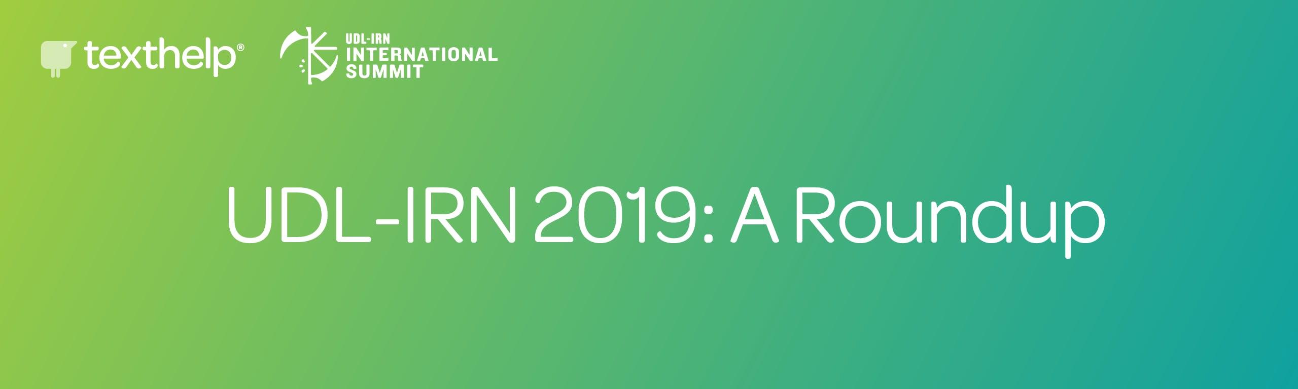 URL-IRN 2019: A roundup