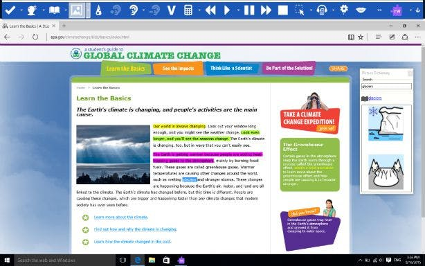 Edge browser screenshot with Read&Write
