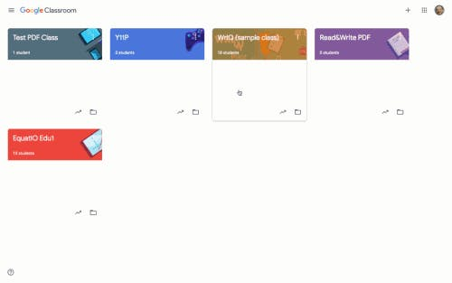 Gif showing WriQ in Google Classroom