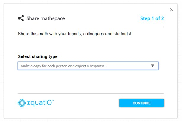 EquatIO Mathspace being used as formative assessment tool