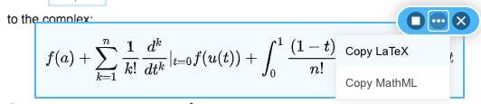 Image of EquatIO using LaTeX math content
