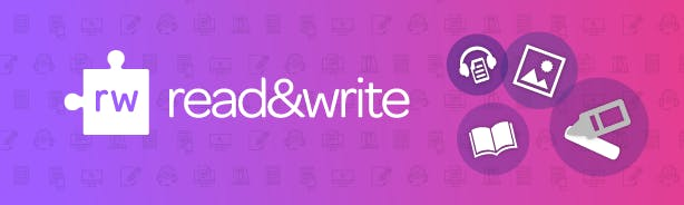 Image showing some features of Read&Write with a purple background