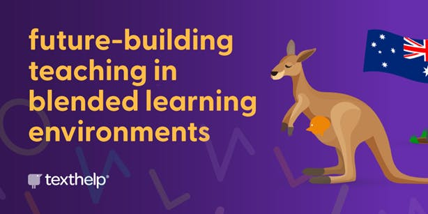 future-building teaching in blended learning environments with kangaroo and australian flag