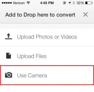 Use My Camera screen shot