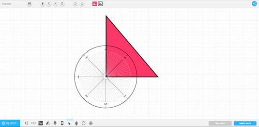 Protractor in EquatIO mathspace