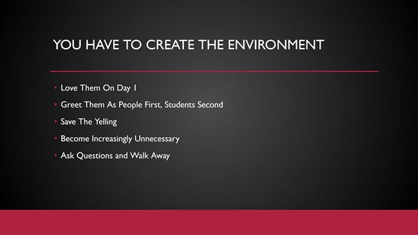Jose Vilson keynote key takeaway - creating an environment for relevance in the classroom