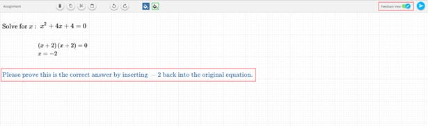 Math question being asked in assessment setting using EquatIO Mathspace