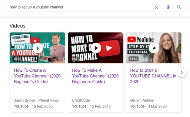 How to set up a YouTube channel video search results