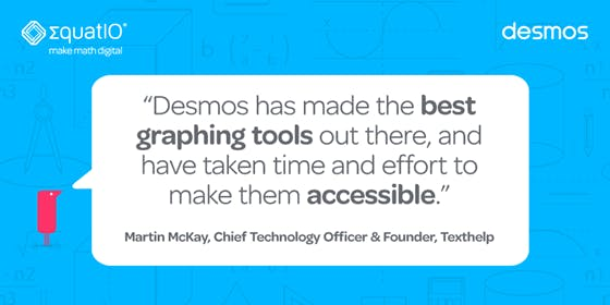 Image of quote from Martin McKay abour Desmos