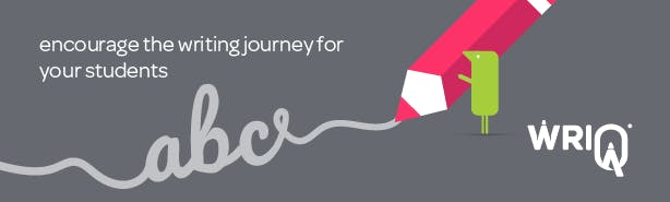 encourage the writing journey for your students banner