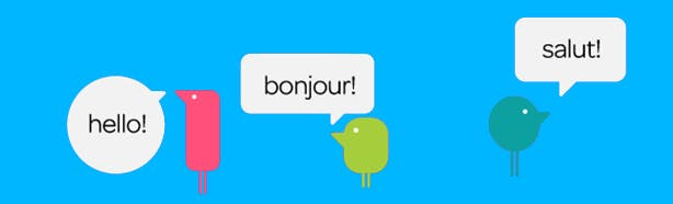 image of texthelpers saying 'hello!' 'bonjour!' and 'salut!'
