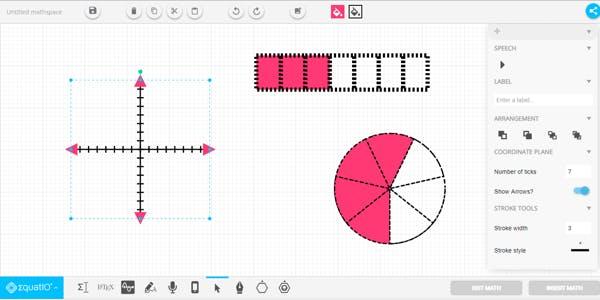 EquatIO Mathspace interface
