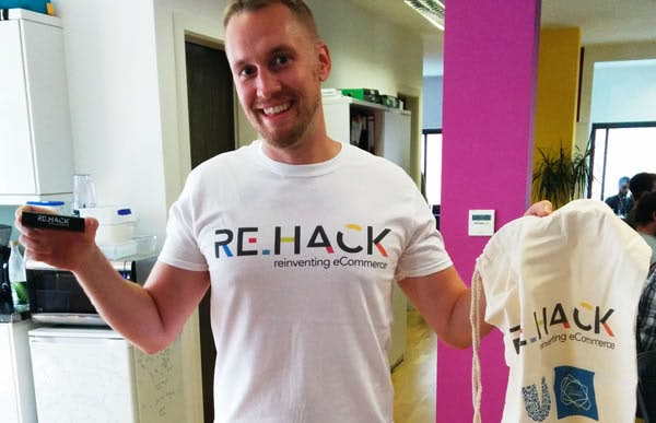 Mike modelling the ReHack gear