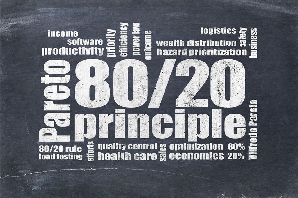 How to get what you want while doing less by using the 80/20 Principle.