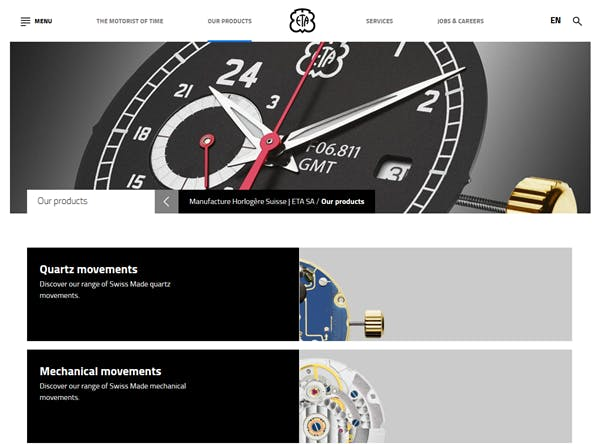 ETA is the largest Swiss movement manufacturer